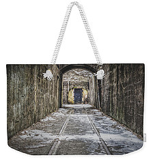 Weekender Tote Bag featuring the photograph End Of The Tracks by Steve Stanger