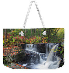 Weekender Tote Bag featuring the photograph Enders Falls Autumn 2 by Bill Wakeley