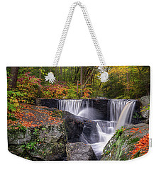 Weekender Tote Bag featuring the photograph Enders Falls Autumn 2018 by Bill Wakeley