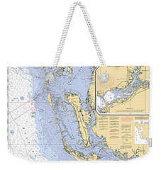 Estero Bay To Lemon Bay, Noaa Chart 11426 Weekender Tote Bag
