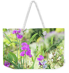 Weekender Tote Bag featuring the photograph Everlasting Pea Flowers by Tim Gainey