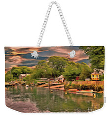 Weekender Tote Bag featuring the photograph Everything That I Love About The River by Leigh Kemp
