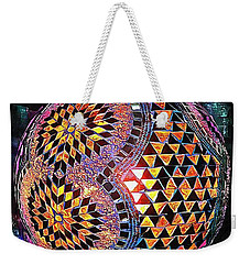 Weekender Tote Bag featuring the photograph Exotic Oriental Mosaic by Dorothy Berry-Lound