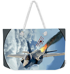 F-35 Vs The Red Baron Weekender Tote Bag