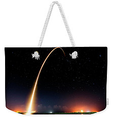 Falcon 9 Rocket Launch Outer Space Image Weekender Tote Bag