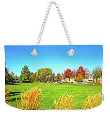 Weekender Tote Bag featuring the photograph Fall Colors In Boise, Idaho by Dart and Suze Humeston