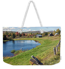 Weekender Tote Bag featuring the photograph Fall Colors In Port Au Persil by Tatiana Travelways