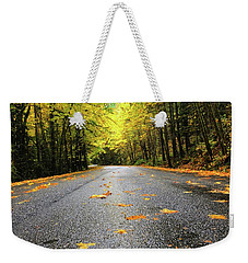 Fall Drive Weekender Tote Bag