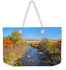 Weekender Tote Bag featuring the photograph Fall Foliage In Idaho by Dart and Suze Humeston
