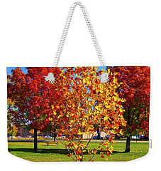 Weekender Tote Bag featuring the photograph Fall In Boise by Dart and Suze Humeston