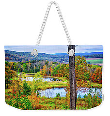 Weekender Tote Bag featuring the photograph Fall Memories At The Ponds by Lynn Bauer