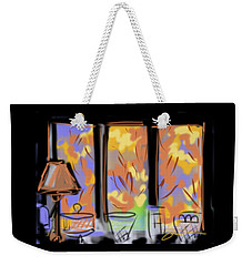 Fall Windows Weekender Tote Bag