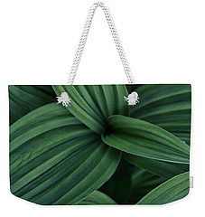 Weekender Tote Bag featuring the photograph False Hellebore Plant Abstract by Nathan Bush