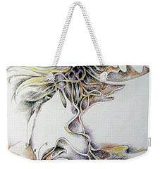 Weekender Tote Bag featuring the drawing Fantasy by Rosanne Licciardi