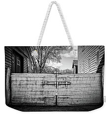 Weekender Tote Bag featuring the photograph Farm Gate by Steve Stanger