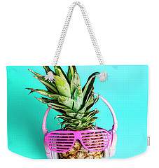 Fashionable Trendy Pineapple Fruit With Headphones And Sun Glass Weekender Tote Bag