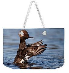 Female Merganser Wings Forward Weekender Tote Bag