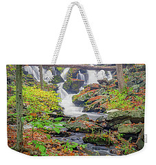 Weekender Tote Bag featuring the photograph Fern Falls by Bill Wakeley