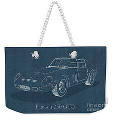 Ferrari 250 Gto - Blueprint Weekender Tote Bag