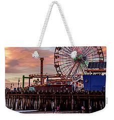 Ferris Wheel On The Pier - Square Weekender Tote Bag