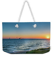Ferry Going Into Sunset Weekender Tote Bag
