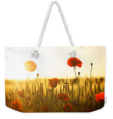 Field Of Poppies At Dawn Weekender Tote Bag