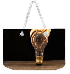 Fire And Flames Ignited Out Of Light Bulb Weekender Tote Bag
