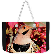 Weekender Tote Bag featuring the photograph Fire Bush Flicker by Debbie Stahre