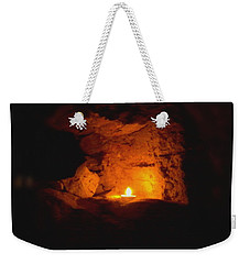 Weekender Tote Bag featuring the photograph Fire Inside by Lucia Sirna