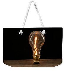 Fire Sparks Inside A Light Bulb Weekender Tote Bag