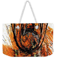 Weekender Tote Bag featuring the photograph Fire Tree 2 by Michael Arend