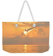 Weekender Tote Bag featuring the photograph Fireball   by Barbara Ann Bell