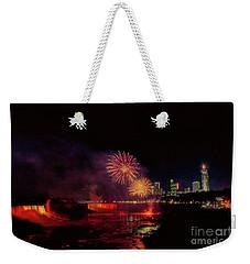 Fireworks Over The Falls. Weekender Tote Bag