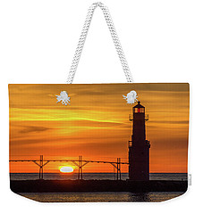 First And Last Lights Weekender Tote Bag