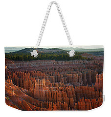 Weekender Tote Bag featuring the photograph First Light On The Hoodoo Inspiration Point Bryce Canyon National Park by Nathan Bush