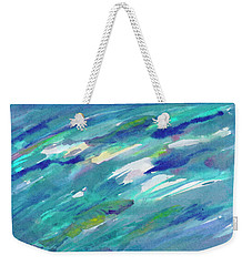 Weekender Tote Bag featuring the painting Fish In Water by Dobrotsvet Art