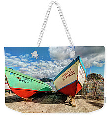 Fishing Boats In Frenchtown Weekender Tote Bag