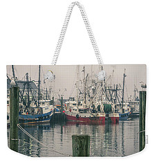Weekender Tote Bag featuring the photograph Fishing Boats by Steve Stanger