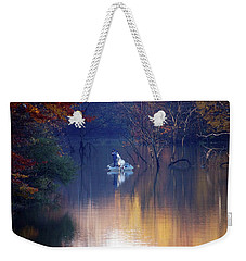 Weekender Tote Bag featuring the photograph Fishing In The Fall by Mike Murdock