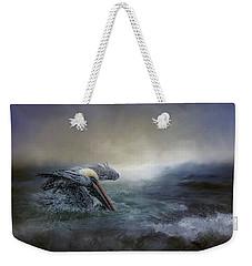 Fishing In The Storm Weekender Tote Bag