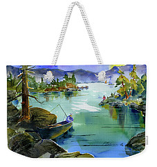 Fishing Lake Tahoe Weekender Tote Bag