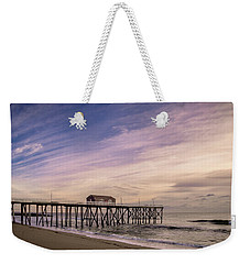 Weekender Tote Bag featuring the photograph Fishing Pier Sunrise by Steve Stanger