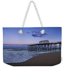 Weekender Tote Bag featuring the photograph Fishing Pier Sunset by Steve Stanger