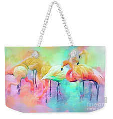 Flamingo Rainbow Weekender Tote Bag