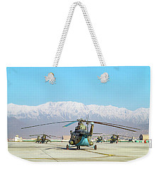 Weekender Tote Bag featuring the photograph Flight Line by SR Green