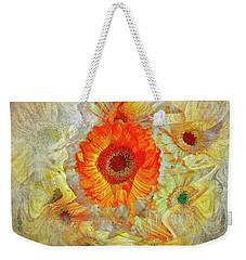 Weekender Tote Bag featuring the digital art Floral Joy by Edmund Nagele