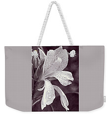Weekender Tote Bag featuring the photograph Floral Memories I by Leda Robertson