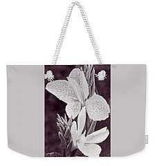 Weekender Tote Bag featuring the photograph Floral Memories II by Leda Robertson