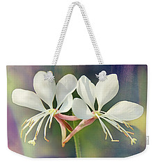 Weekender Tote Bag featuring the photograph Floral Palette I by Leda Robertson