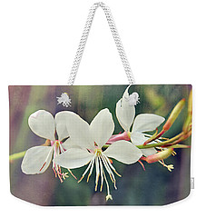 Weekender Tote Bag featuring the photograph Floral Palette II by Leda Robertson